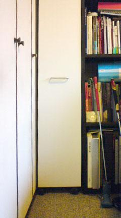 キャスター付き、引き出し式、隙間収納棚・BT-011-24・設置写真