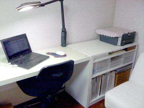 デスク(机)と同じ高さにして、広いオーダーデスクにする-DK-018