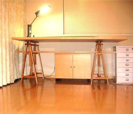 デスク下棚で、キャスター付き家具DK-024