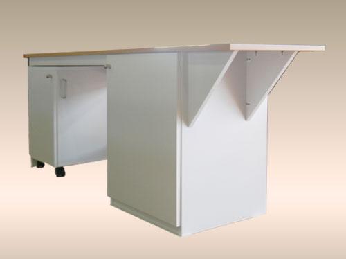 ワゴン付きデスクは、家具のオーダー仕様で。DK-031-50.jpg