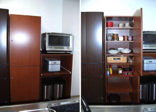 台所収納棚、レンジ台棚-DT-008