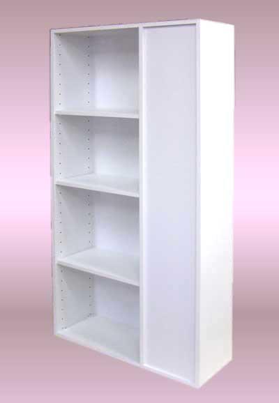 台所とリビングを棚で仕切って、両面使い、間仕切り棚を設置する。・DT-015