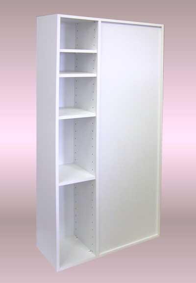 台所とリビングを棚で仕切って、両面使い、間仕切り棚を設置する。反対面・DT-015