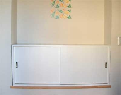 白い引き戸のオーダー家具-2・LT-026