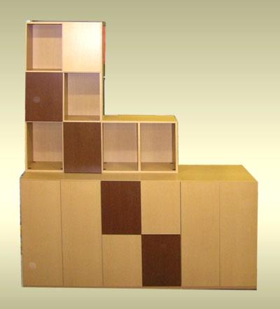 オーダーリビング家具は、ドアカラーの組み合わせで楽しくなる。LT-032