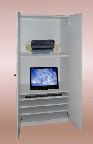 オーダーパソコンデスク。床座りタイプ。PC-008 使用状態