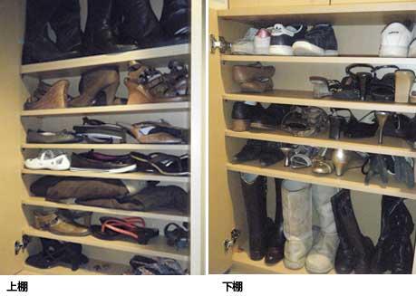 窓枠を上手にかわしたオーダー玄関収納、オーダー下駄箱・靴収納・SB-017